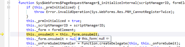 this._form is NULL